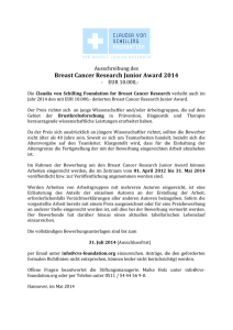 Breast Cancer Research Junior Award 2014
