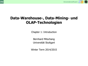 Data-Warehouse-, Data-Mining- und OLAP
