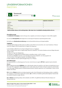 LÄNDERINFORMATIONEN PAKISTAN