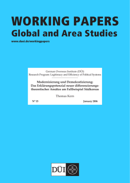 Text als PDF - GIGA | German Institute of Global and Area Studies