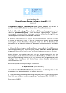 Breast Cancer Research Junior Award 2015