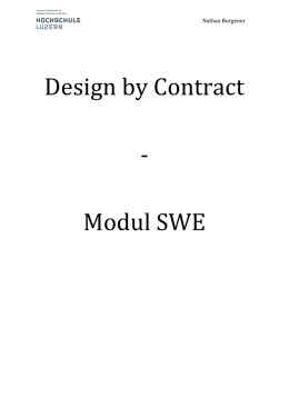 Design by Contract ‐ Modul SWE