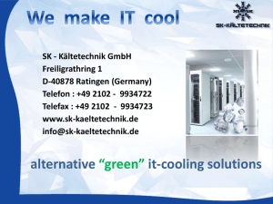 "alternative ""green"" it-cooling solutions"