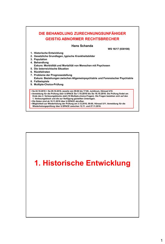 Unterlagen zur Vorlesung - Institut für Strafrecht und Kriminologie