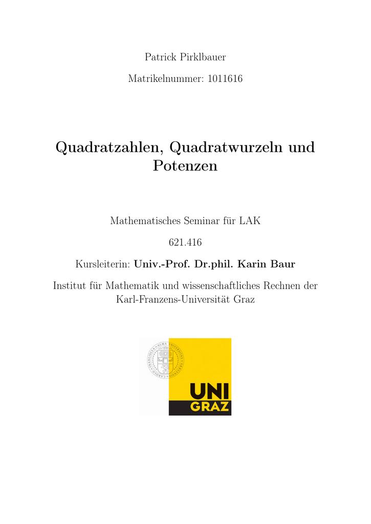 Groß Quadratwurzel Der Praxis Probleme Bilder - Mathematik ...