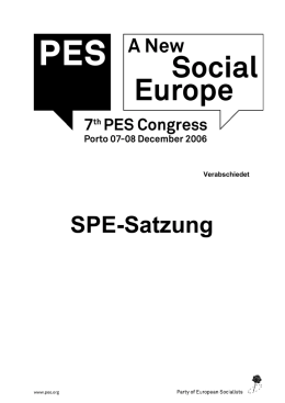 SPE-Satzung - Party of European Socialists