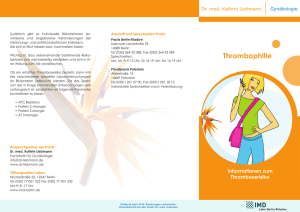 Flyer Thrombophiliescreening
