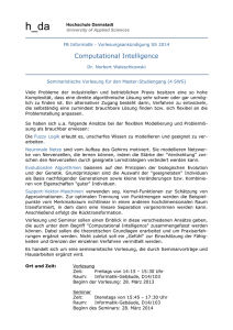 Vorlesung: Computational Intelligence