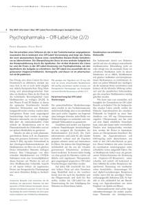 Psychopharmaka – Off-Label-Use (2/2)