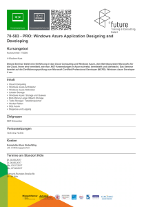 70-583 - PRO: Windows Azure Application Designing and Developing