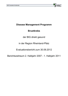 Disease Management Programm Brustkrebs der BIG direkt gesund