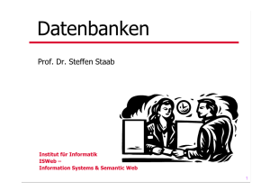 Datenbanken - Institute for Web Science and Technologies