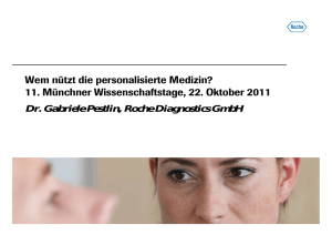 Dr. Gabriele Pestlin, Roche Diagnostics GmbH