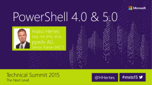 PowerShell Deep Dive – Neuerungen in PowerShell 4.0