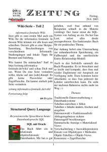 Wiki-Serie – Teil 2 Structured Query Language