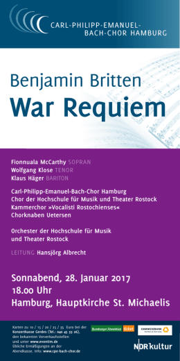 War Requiem - Carl-Philipp-Emanuel-Bach