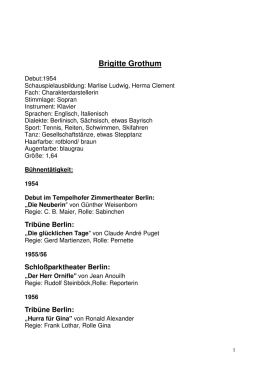 Theater Berlin - Brigitte Grothum