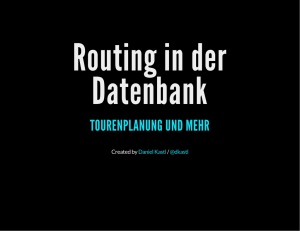 Routing in der Datenbank
