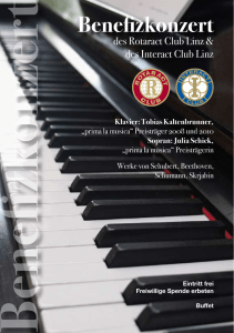 Benefizkonzert - Rotaract Club Linz