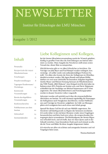 NEWSLETTER - Ethnologie