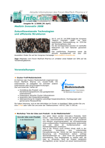 Ausgabe Nr. 2/2008 (29. April) — Forum MedTech Pharma e.V.