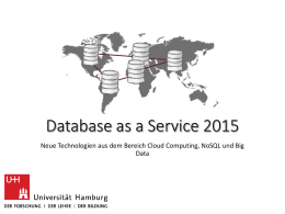 Database as a Service 2015