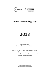 Booklett 2013 - Research Center ImmunoSciences