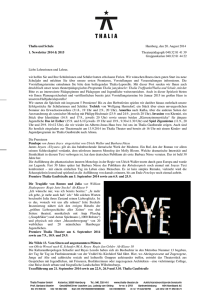 1. Newsletter - Thalia Theater