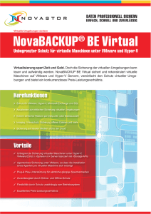 NovaBACKUP® BE Virtual - Starline Computer GmbH