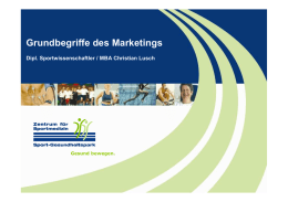 Marketing Aspekte eines Sport