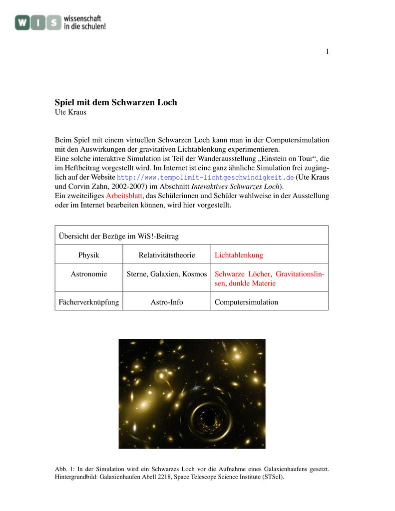 Spiel mit dem Schwarzen Loch - wissenschaft