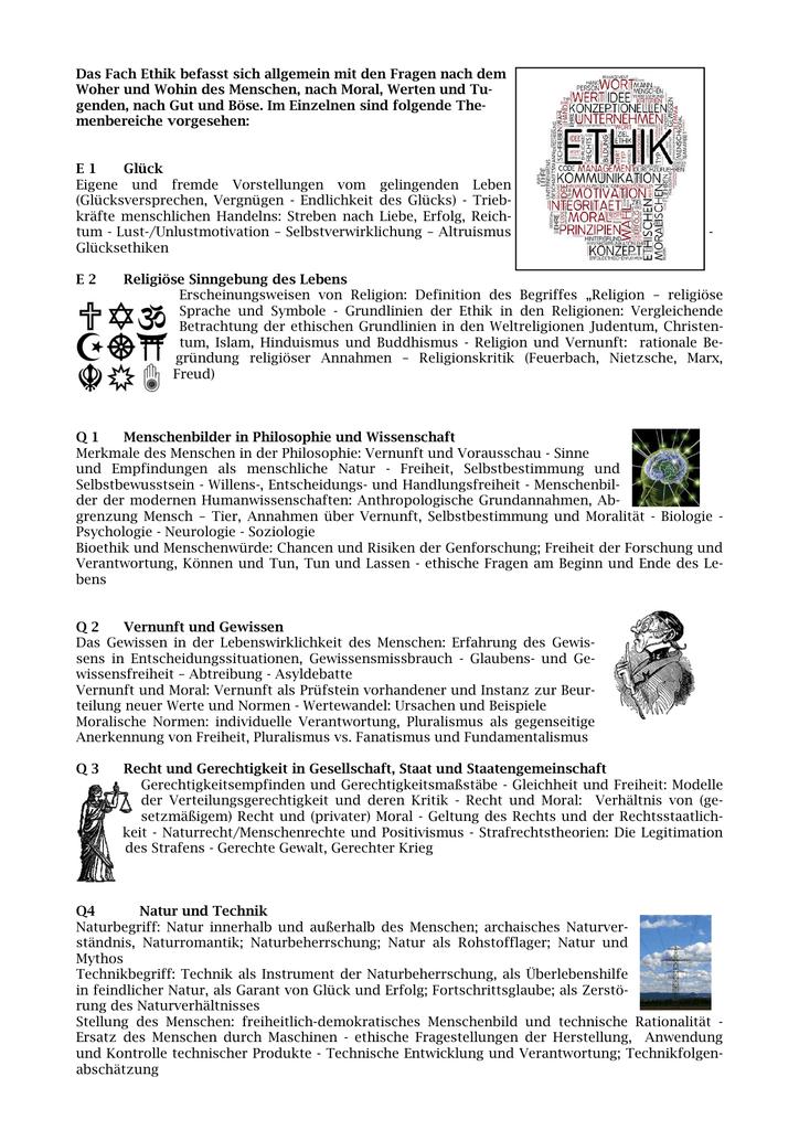 ethik fachbeschreibung - Normen Und Werte Beispiele
