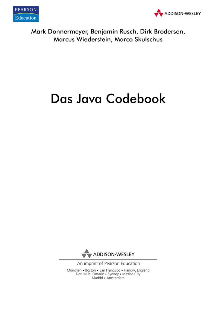 Das Java Codebook