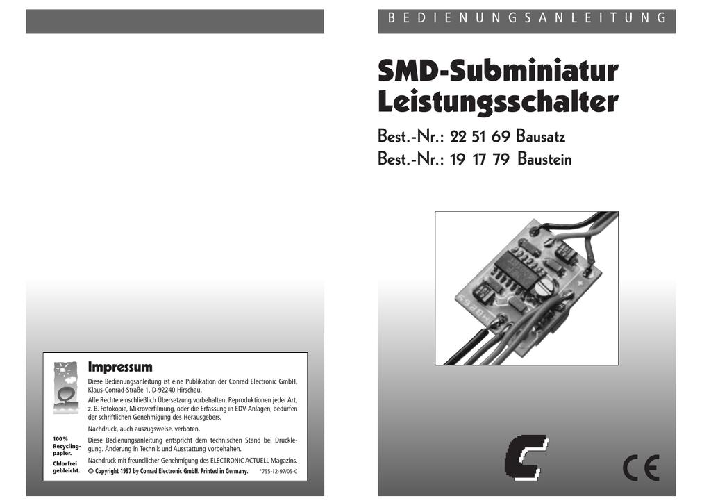 SMD-Subminiatur Leistungsschalter