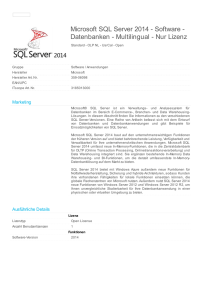 Microsoft SQL Server 2014 - Software