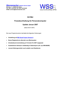 Updateinformationen - Wannemacher Software