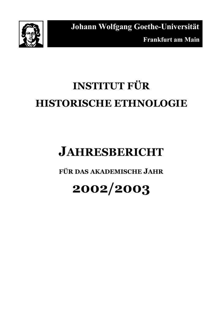 Jahresbericht 02-03[2] - Publication Server of Goethe University