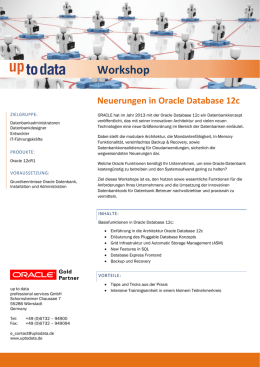 Workshop Neuerungen in Oracle Database 12c