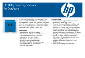 HP Utility Sourcing Services for Database