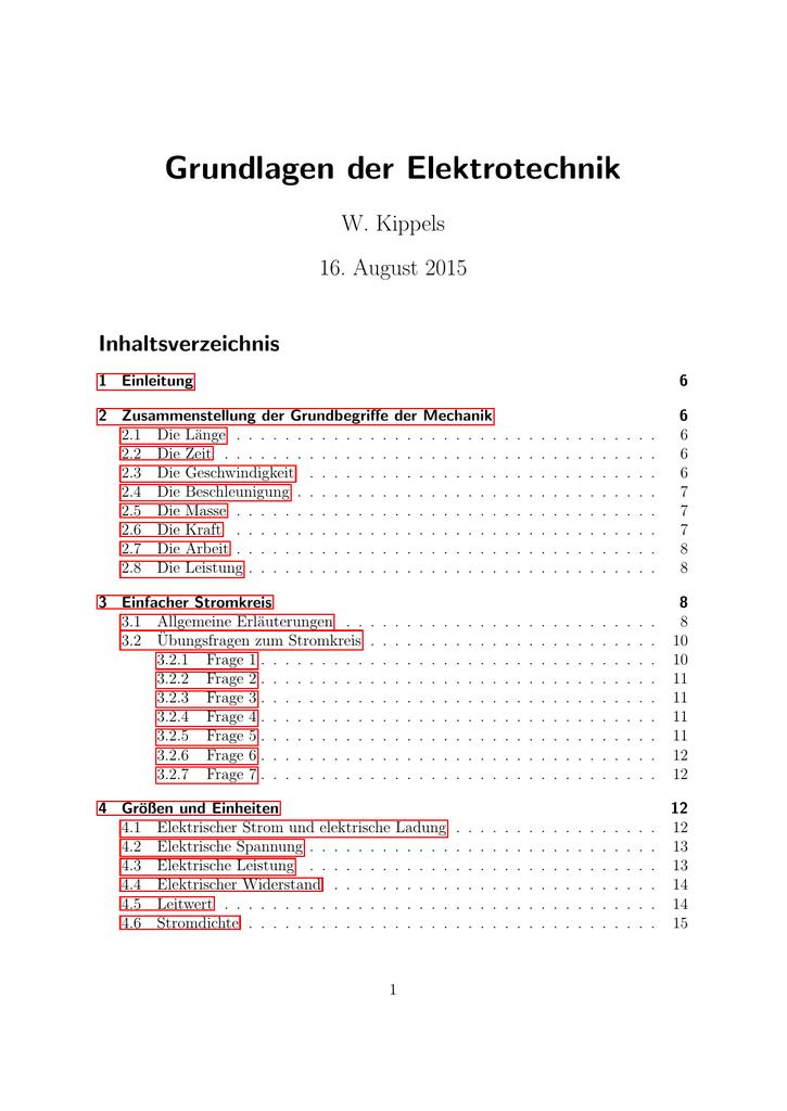 Grundlagen der Elektrotechnik - DK4EK
