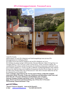 IPA-Gästeappartement / Toscana/Lucca