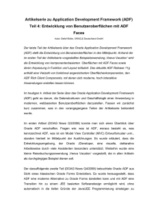 Artikelserie zu Application Development Framework (ADF) Teil 4