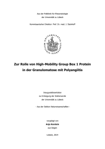 Zur Rolle von High-Mobility Group Box 1 Protein in der
