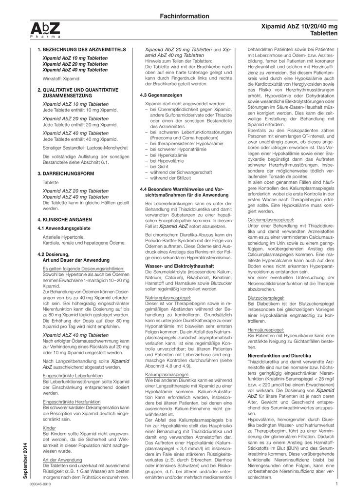 Fachinformation - AbZ
