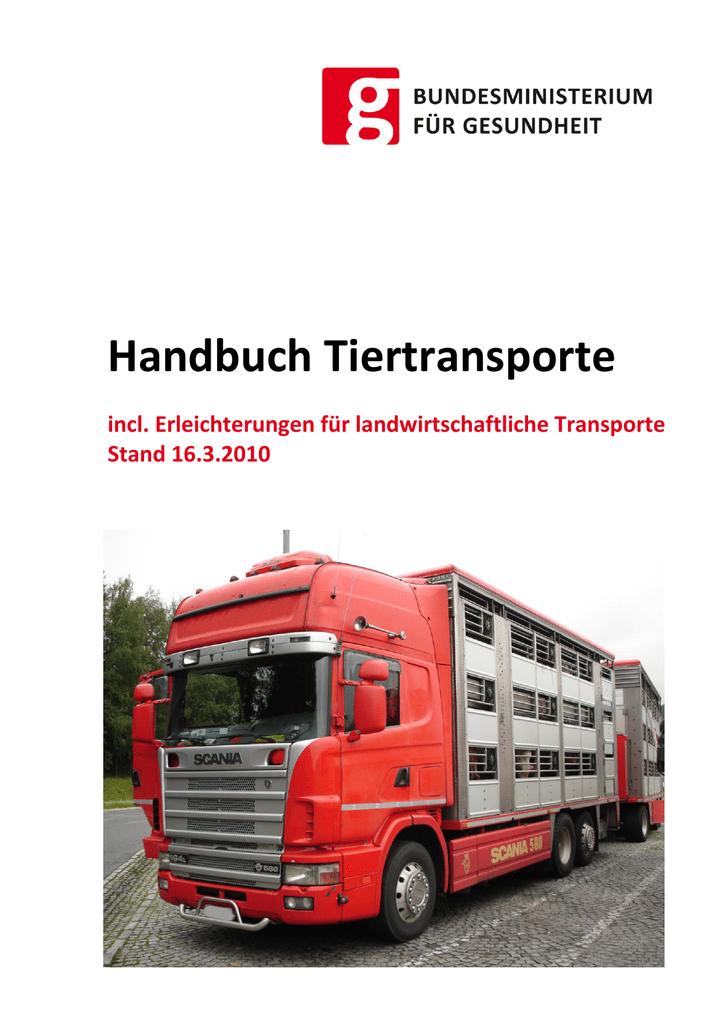 notwendige dokumente bei tiertransporte