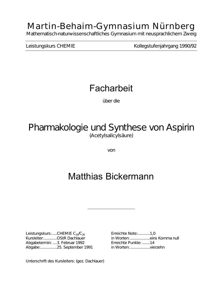 Facharbeit Matthias Bickermann