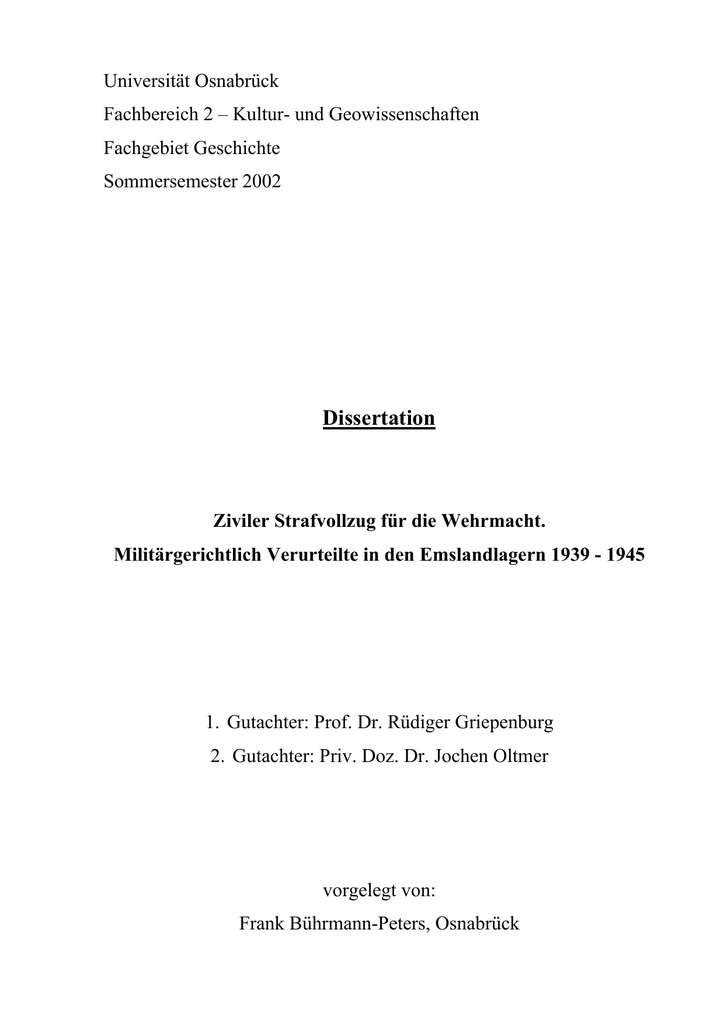 Ziviler Strafvollzug für die Wehrmacht