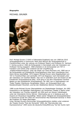 Biographie MICHAEL GRUNER - Theater Nestroyhof