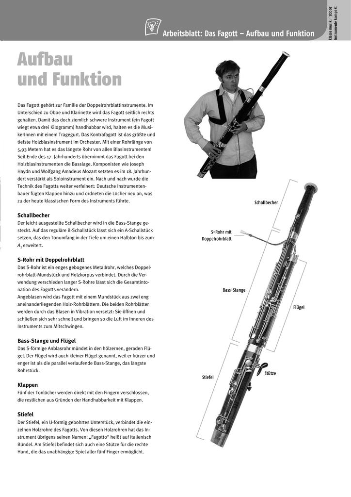 Instrumente kompakt: Fagott