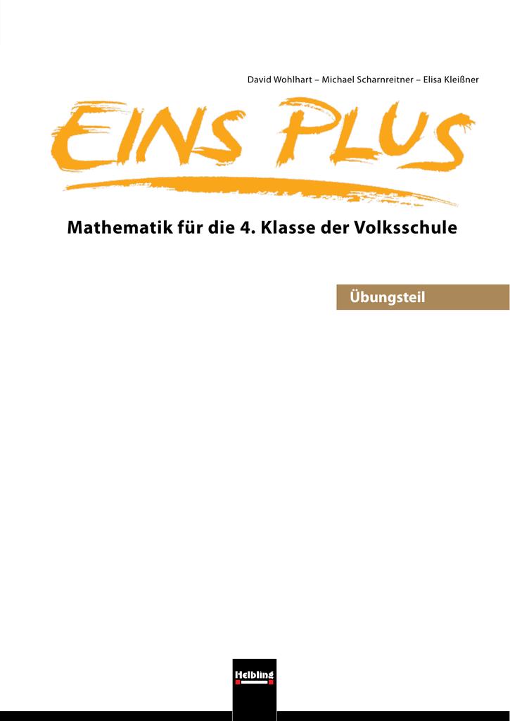 Mathematik für die 4. Klasse der Volksschule